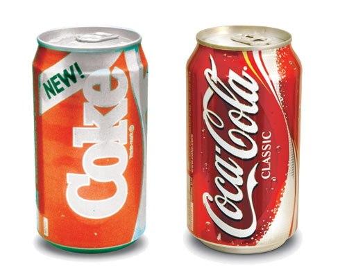 Coca cola brand failure