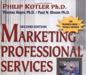 Marketing professional services by Philip Kotler