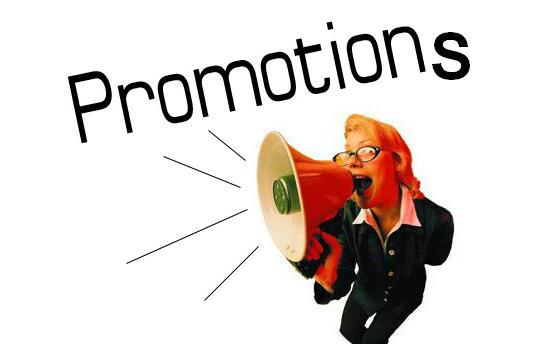 Promotions in marketing