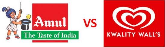 Amul vs Kwality Walls FMCG rivals