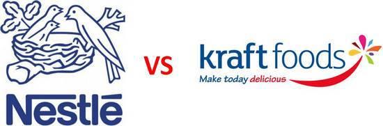Nestle vs Kraft FMCG rivals