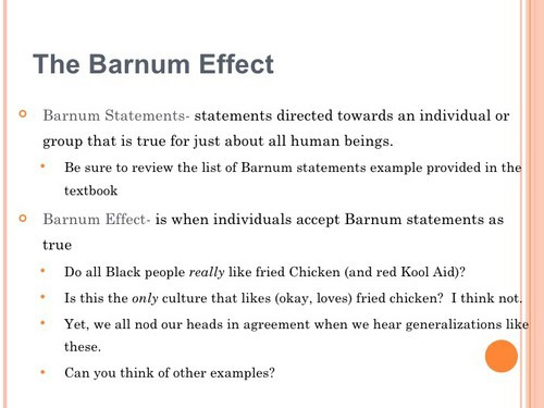 Barnum effect - 1