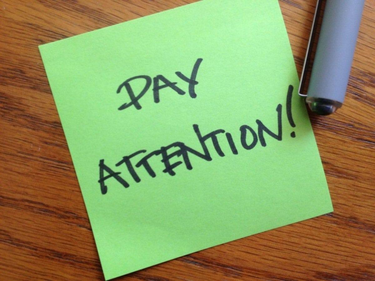 Customer attention - 2