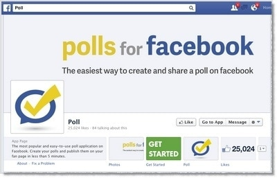 Facebook polls for primary data collection
