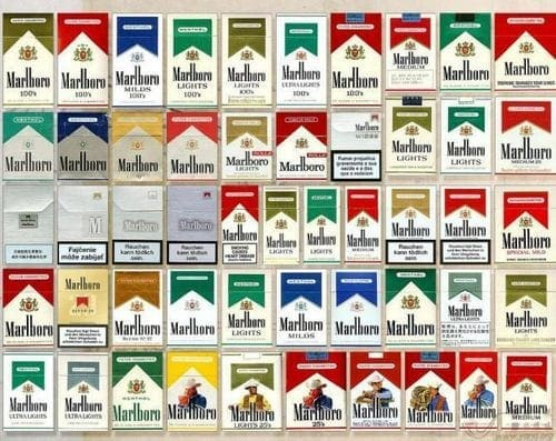 Marlboro types in the Marketing mix of Marlboro