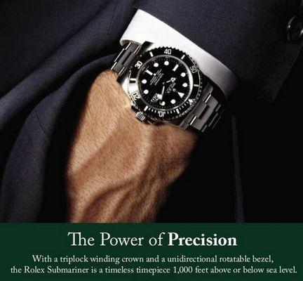 Rolex - choose a market segment