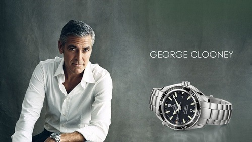 George Clooney and Omega print ad