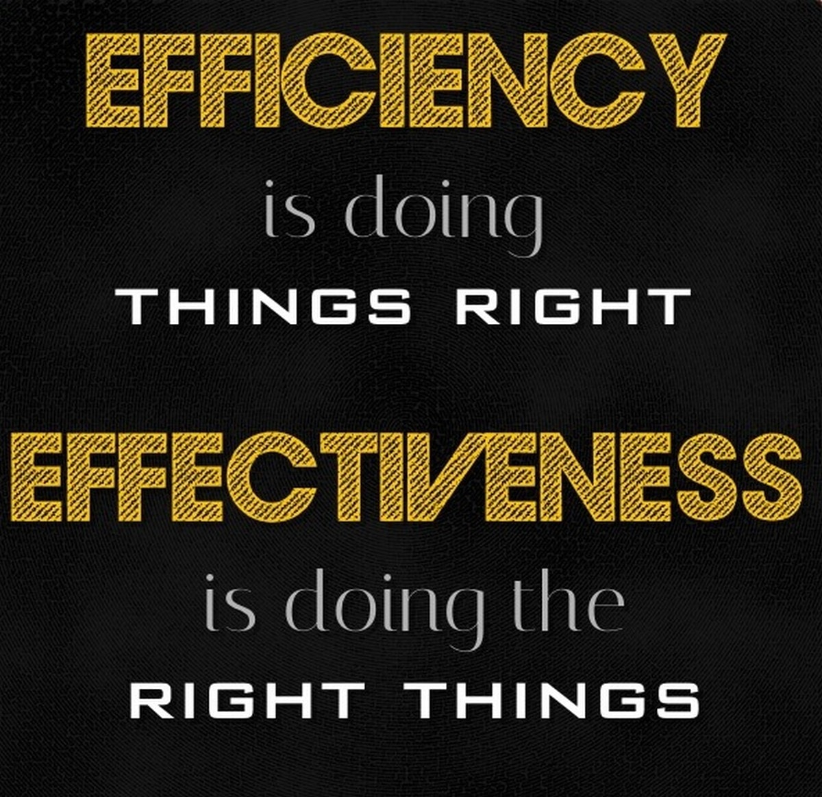 Difference between efficiency and effectiveness in business
