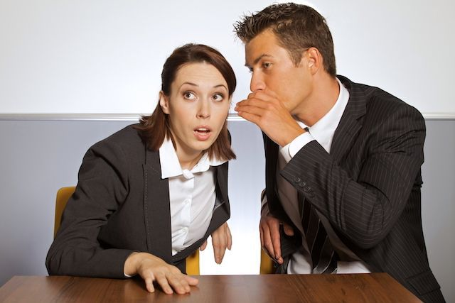 people in office politics - gossip