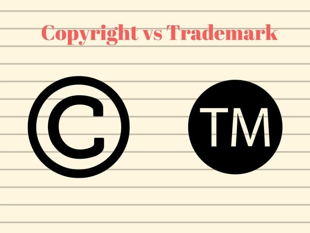 Difference between copyright and trademarks