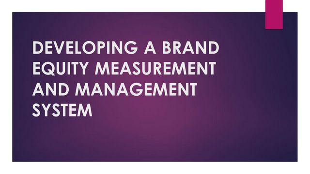 Aaker Brand Equity Model 2
