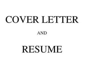 Cover Letter with Resume - 3
