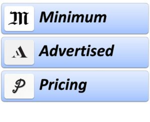 Minimum Advertised Pricing - 3