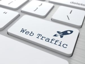 What is meant by Website traffic?