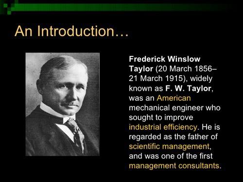 Scientific Management theories - 1