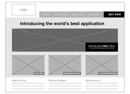 A Website Wireframe - 4