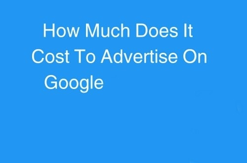 Cost to Advertise on Google - 1