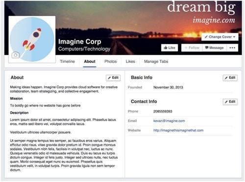 Facebook Page Design - 3