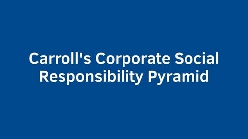 Carroll's Pyramid of Corporate Social Responsibility - 1