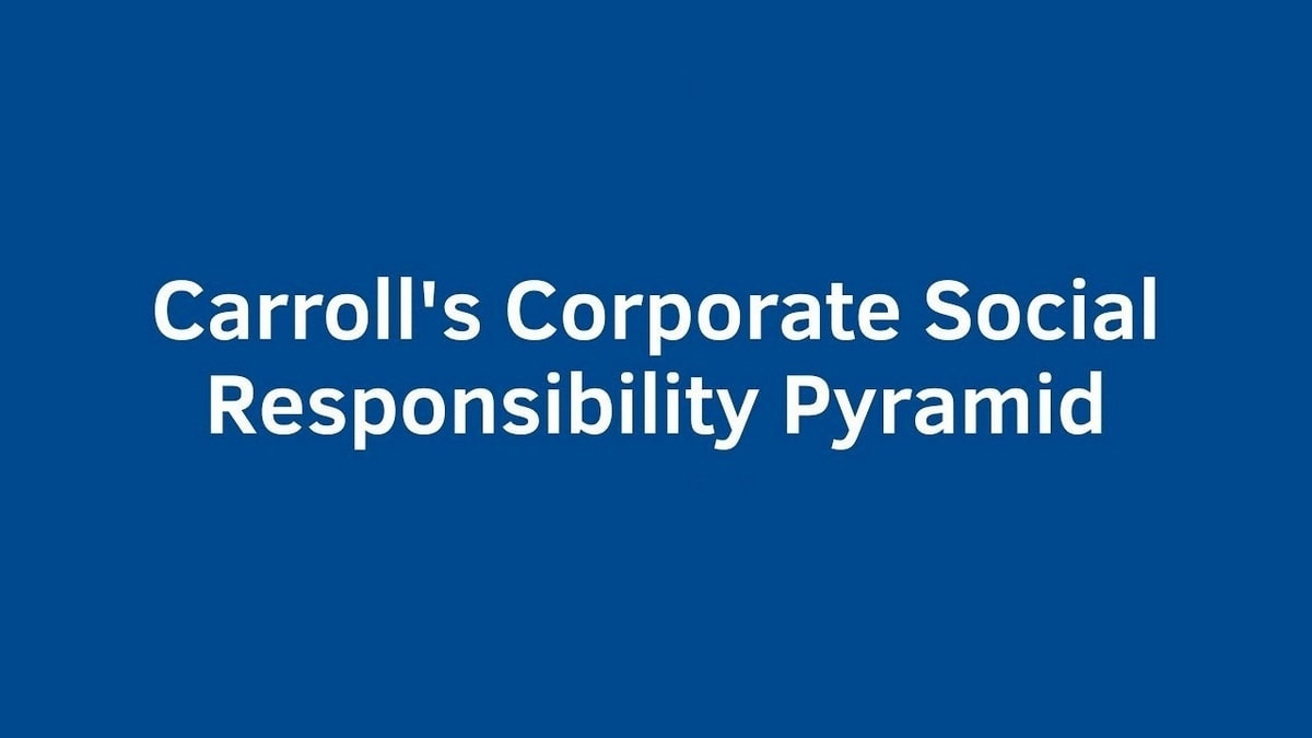 What is Carroll's Pyramid of Corporate Social Responsibility?