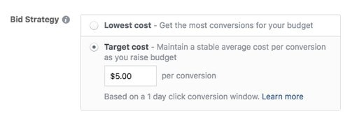 Facebook advertising cost - 2