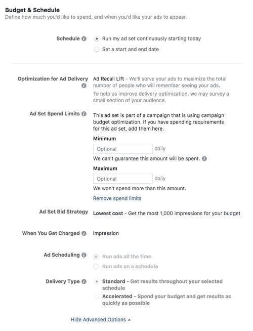 Facebook advertising cost - 3