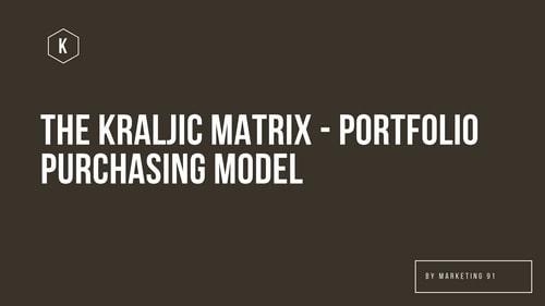 The Kraljic Matrix Portfolio Purchasing Model explained in