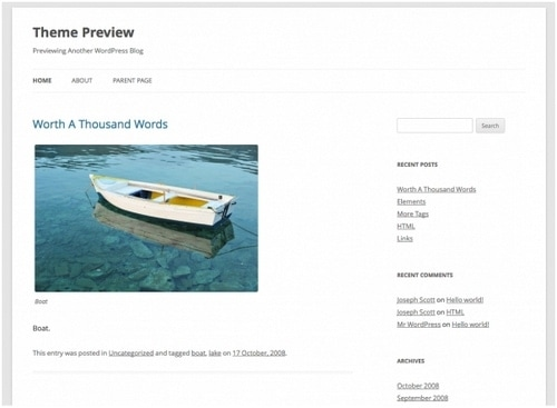 WordPress themes - 1
