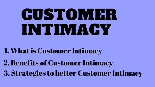 Customer Intimacy - 1