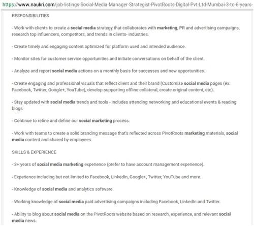 Social Media Consultant - 2