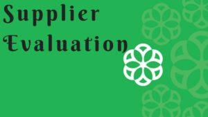 Supplier Evaluation - 3