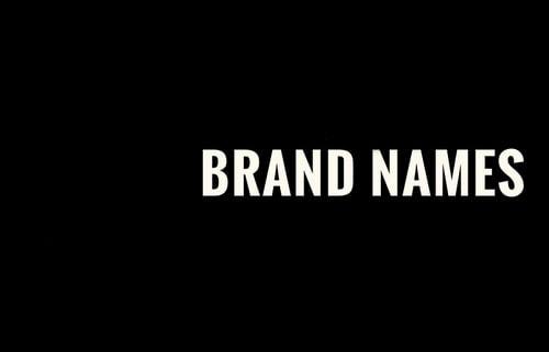 Brand Names - 1