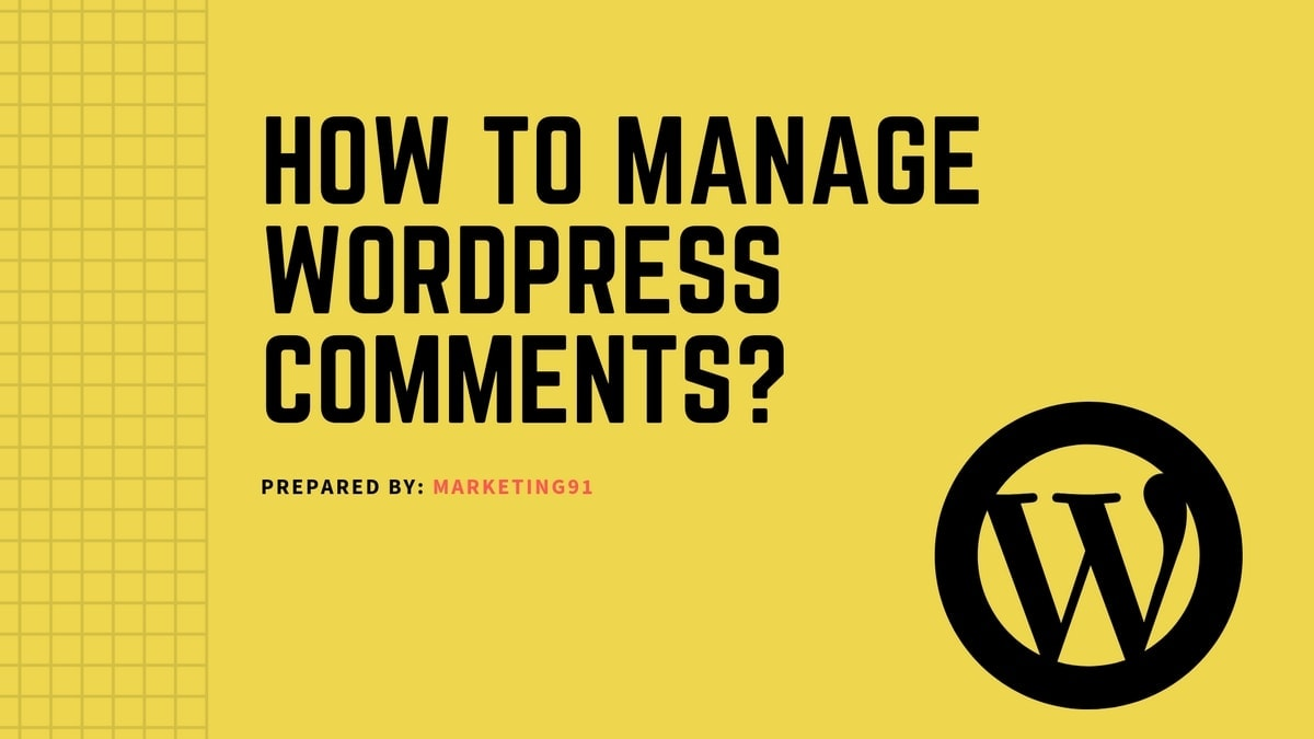 How to Manage WordPress Comments?