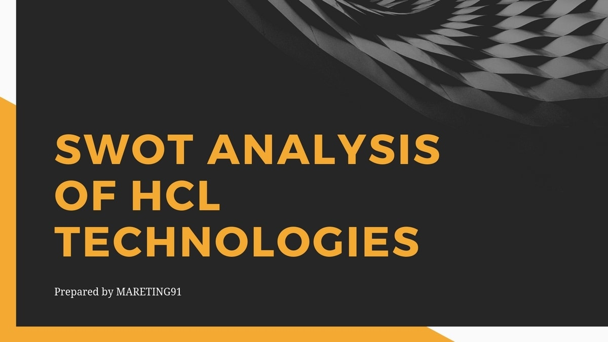 SWOT Analysis of HCL Technologies - 3