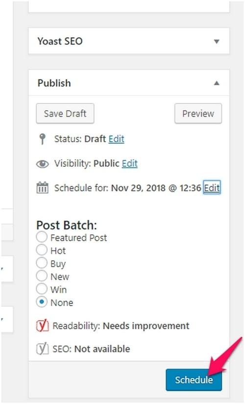 Schedule Posts - 3