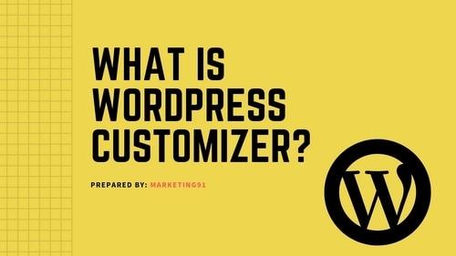 WordPress Customizer - 1