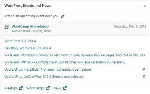 WordPress dashboard - 5
