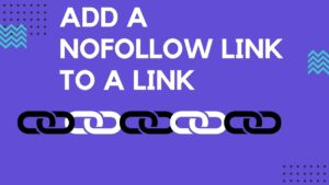 add a Nofollow link to a Link - 4