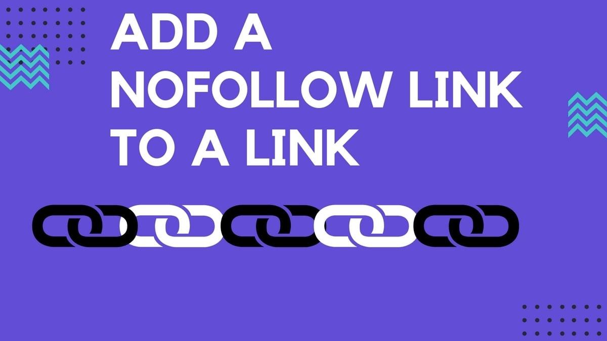 add a Nofollow link to a Link - 4