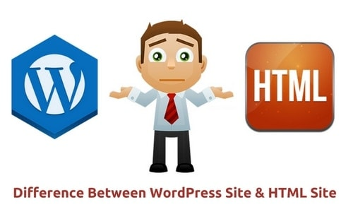 difference between wordpress and html - 1