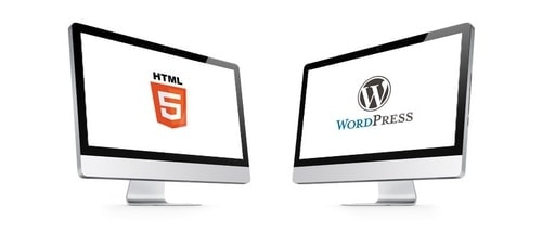 difference between wordpress and html - 2