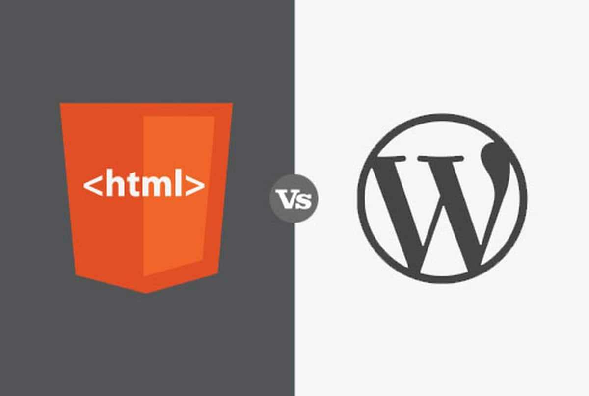difference between wordpress and html - 5