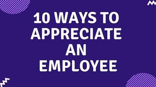 Appreciate An Employee - 2
