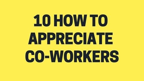 Appreciate Co-workers - 2