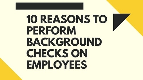 Reasons to perform background checks on employees - 2