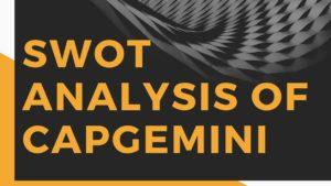 SWOT analysis of Capgemini - 3