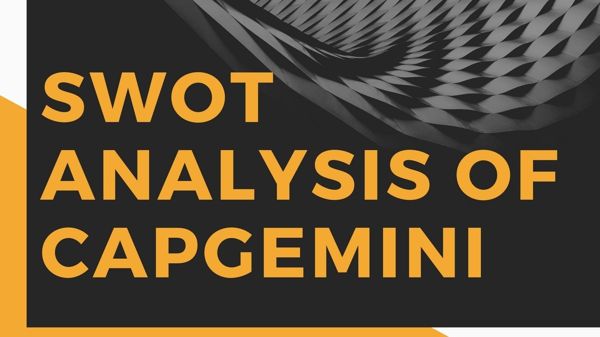 SWOT analysis of Capgemini