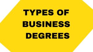 Types of Business Degrees - 2