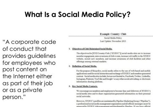 social media policy - 1