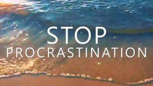 Avoid Procrastination - 6